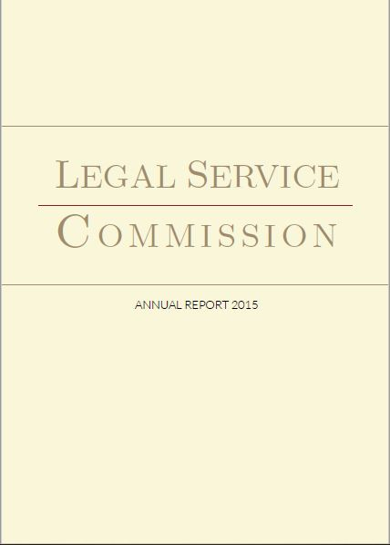 Legal Service Commission Annual Report 2015
